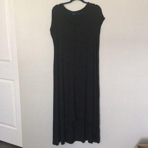 H by Halston Hi/lo Black casual dress